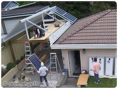 Solar Roof Project Greenergystar Grid Tie Inverter Grid