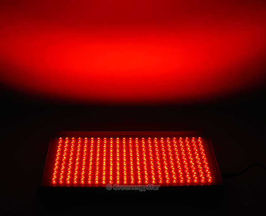 Red Led Lights : 16W 230pcs Red LED Grow Light Panel + 100V-240V 50-60Hz AC Adaptor ...